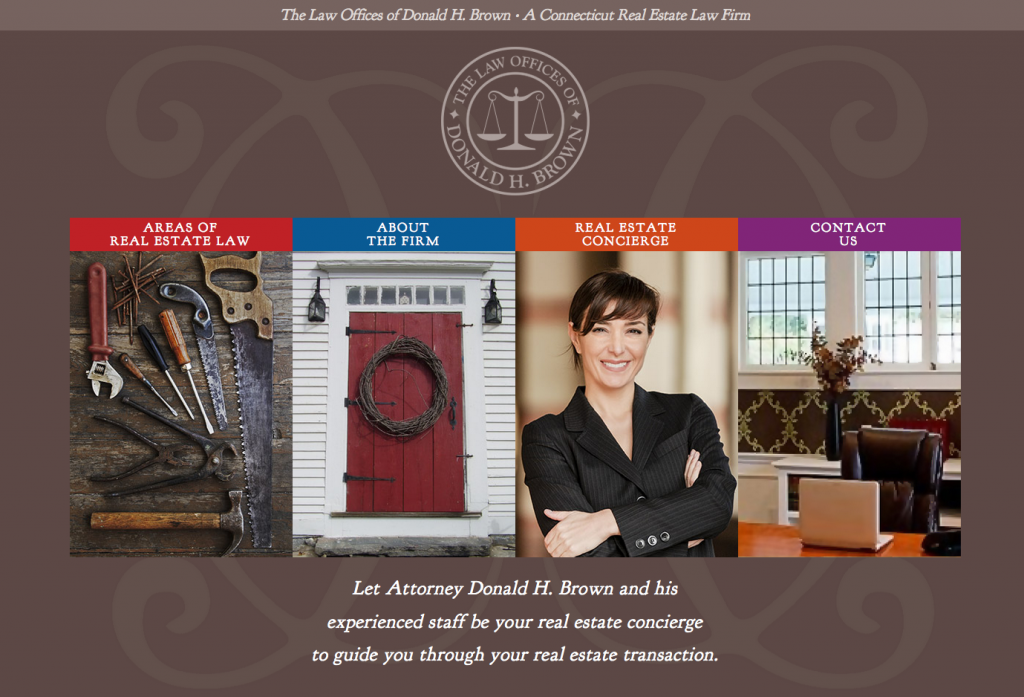 lawyer website for Brown Real Estate Law