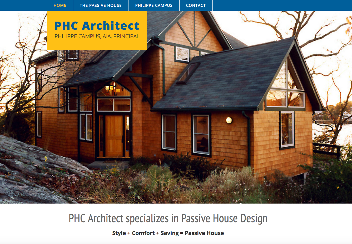 web design for architects by Halagan Design