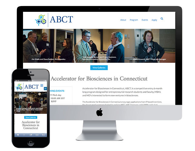 ABCT.co home page design