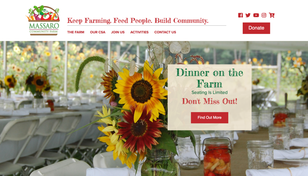 Massaro Community Farm Website