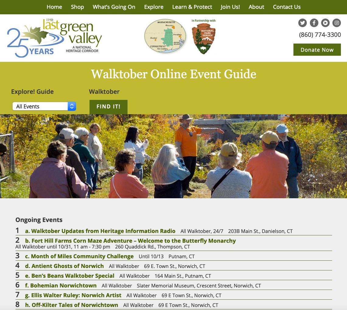 Walktober Online Guide